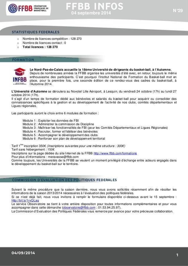 STATISTIQUES FEDERALES  FORMATION  COMMISSION D'EVALUATION DES POLITIQUES FEDERALES  04/09/2014  N°29  1  04 septembre 201...