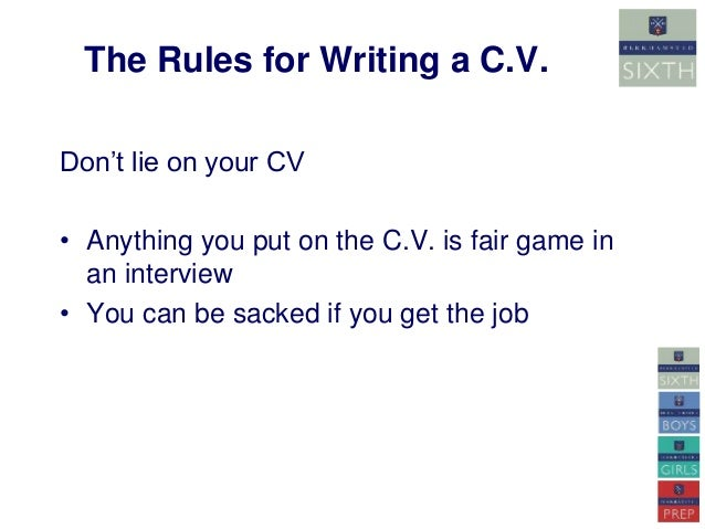 how to write a c v
