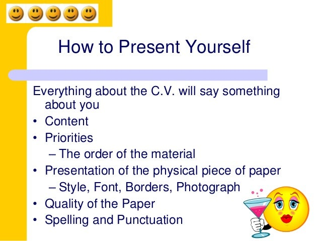 15 how to present yourself everything about the cv - Things To Write About Yourself In A Resume