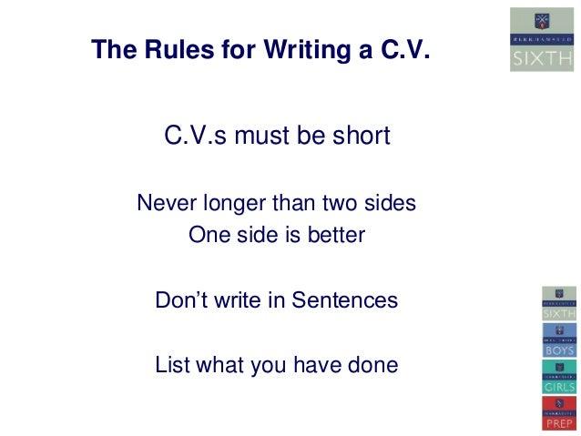 How to write a C.V.