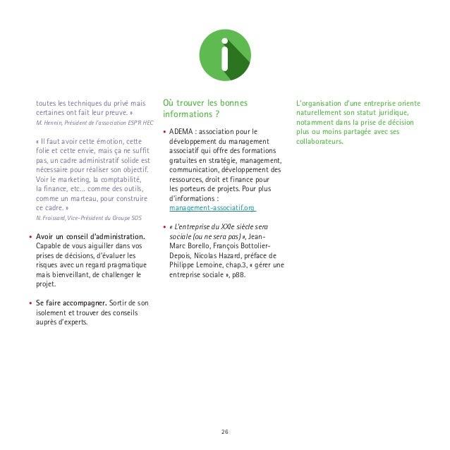 Les cl s de l 39 entreprise sociale for Idees entreprise lucrative
