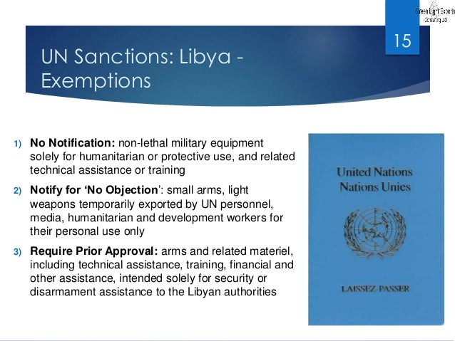 LIBYAN AFRICAN INVESTMENT COMPANY Sanction Law