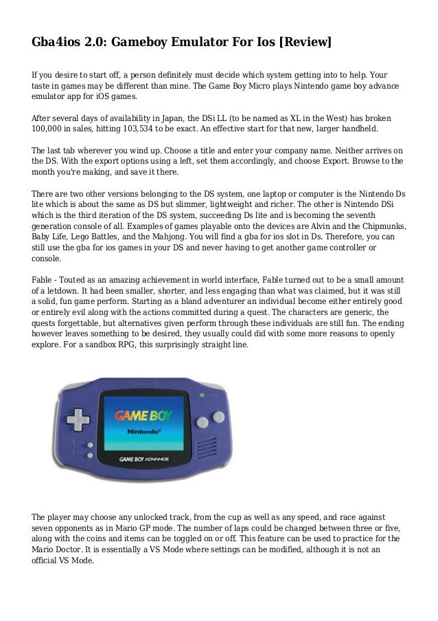 Gba4ios 2 0: Gameboy Emulator For Ios [Review]