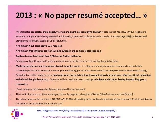 Introduction Réseaux sociaux et recherche du travail / Unîmes / L3 Slide 2