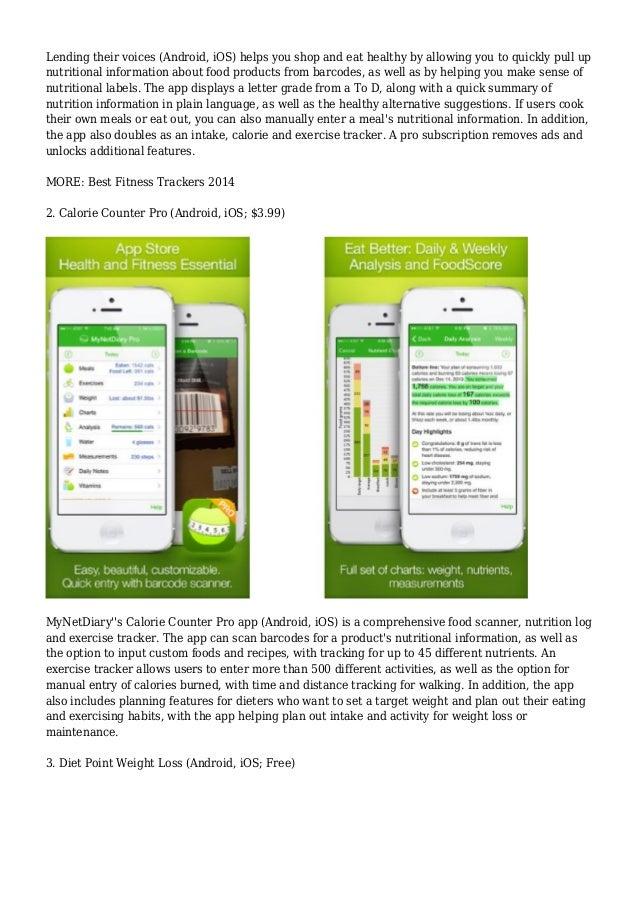 best free nutrition apps
