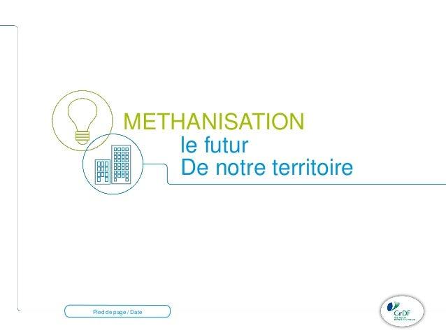 METHANISATION  Pied de page / Date  le futur  De notre territoire