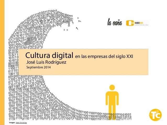 Cultura digital en las empresas del siglo XXI  José Luis Rodríguez  Septiembre 2014  Imagen: Mark Smiciklas