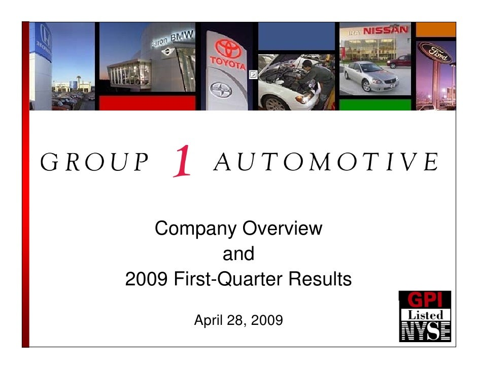 Company Overview            and 2009 First-Quarter Results         April 28, 2009