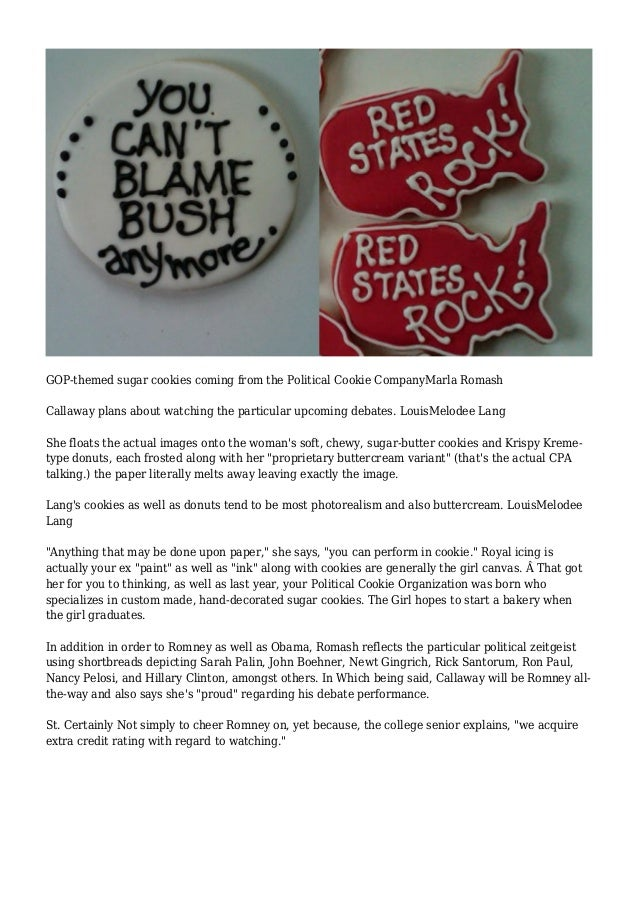 Of buttercream and ballots: cookies with a message Slide 2