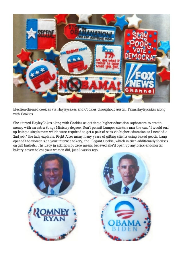 Of buttercream and ballots: cookies with a message Slide 3