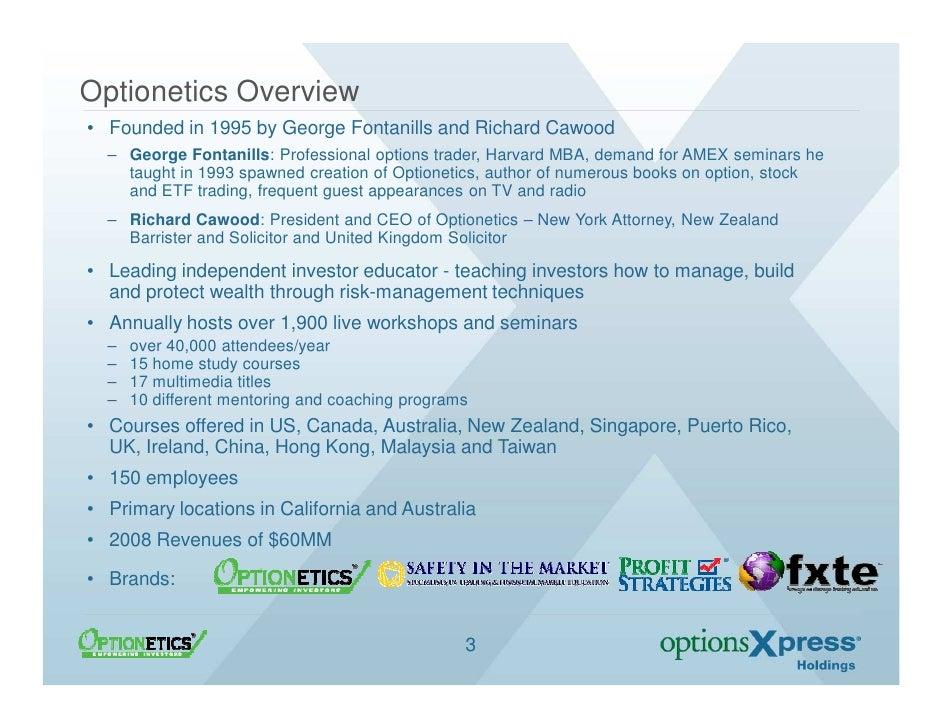 Stock options trading seminar optionetics