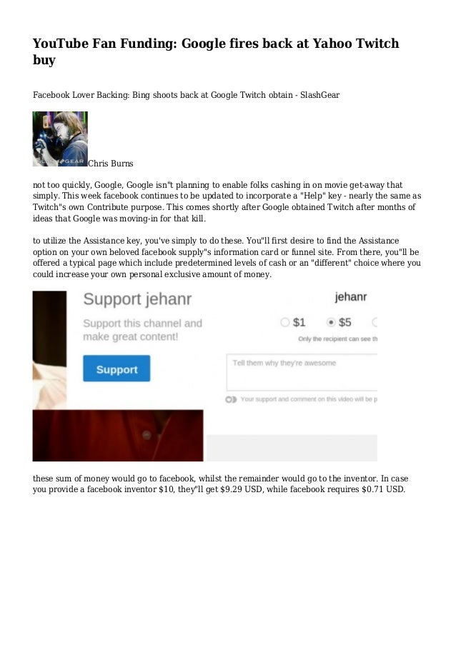 Buy Youtube Video Downloader Mp4: YouTube Fan Funding: Google Fires Back At Yahoo Twitch Buy