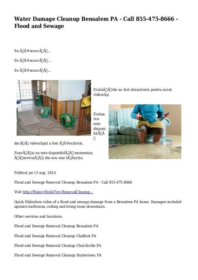 Water Damage Cleanup Bensalem PA - Call 855-475-8666 -  Flood and Sewage  Se încarcă...  Se încarcă...  Se ÃÂ...
