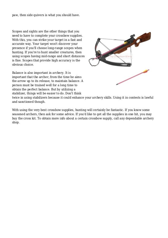How to Find the Best Crossbow Supplies for Archery and Hunting Activi…