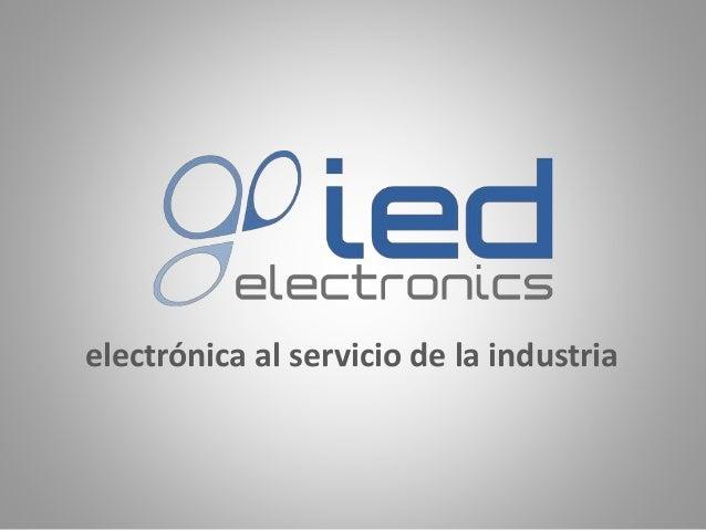 electrónica al servicio de la industria