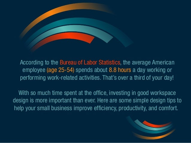According to the Bureau of Labor Statistics, the average American  employee (age 25-54) spends about 8.8 hours a day worki...