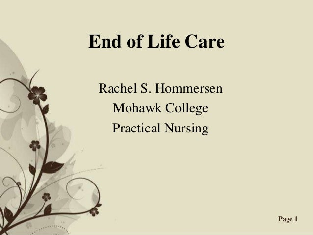 End Of Life Presentation