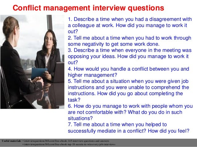 Captivating ... 10. Conflict Management Interview Questions ...