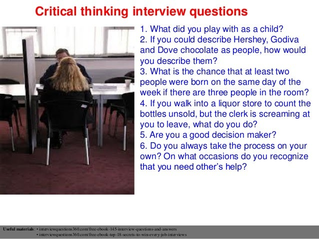 critical thinking interview questions and answers - thelongwayup.info