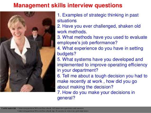 Critical thinking job interview questions