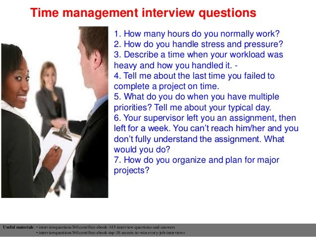 Beautiful Time Management Interview Questions ...