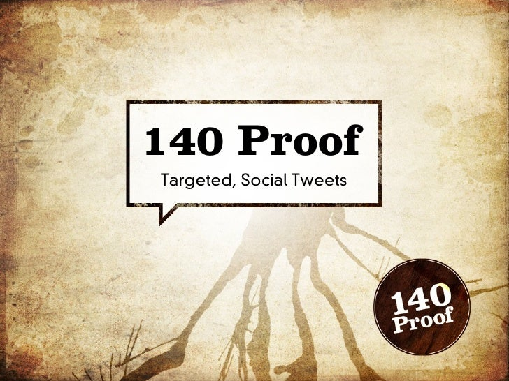 140 Proof Targeted, Social Tweets