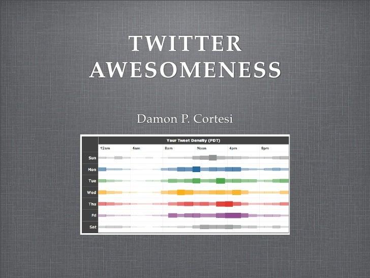 TWITTER AWESOMENESS    Damon P. Cortesi