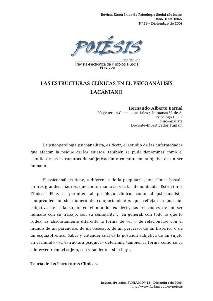 Revista Electrónica de Psicología Social «Poiésis»                                                                        ...
