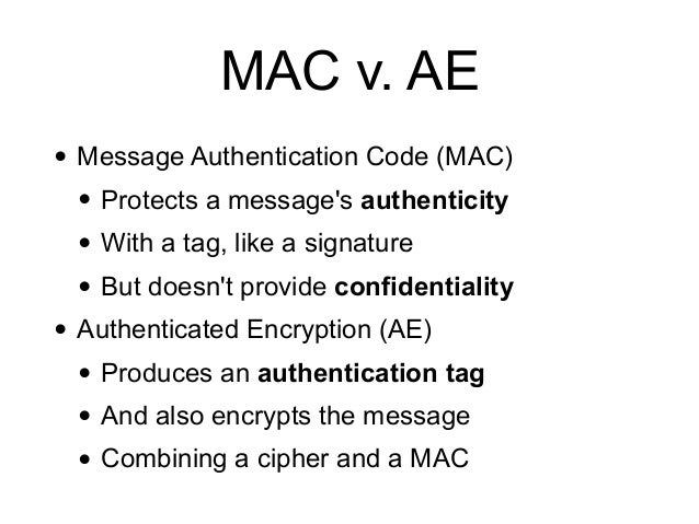 CNIT 141: 8. Authenticated Encryption Slide 2
