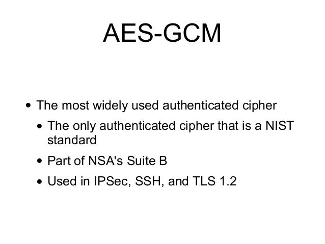 CNIT 141: 8  Authenticated Encryption