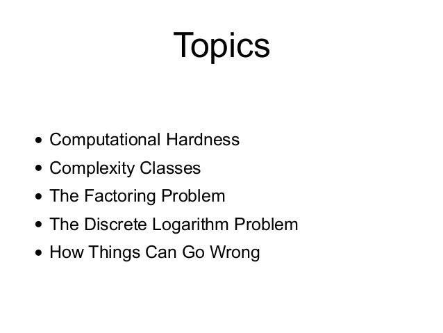CNIT 141: 9. Hard Problems Slide 2