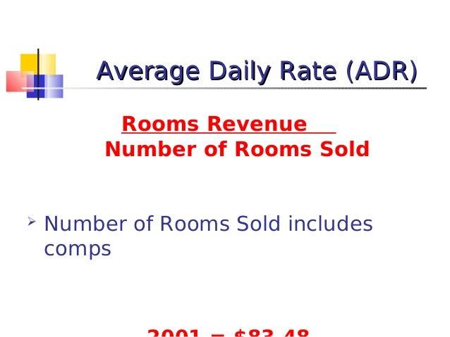 Average Daily Room Rate Adr