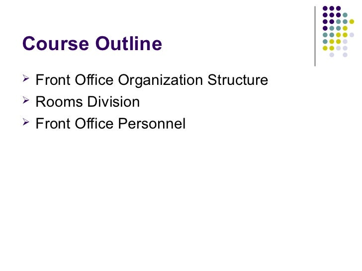 14100484 hotel front office department 2 course outline front office organization structure rooms altavistaventures Choice Image