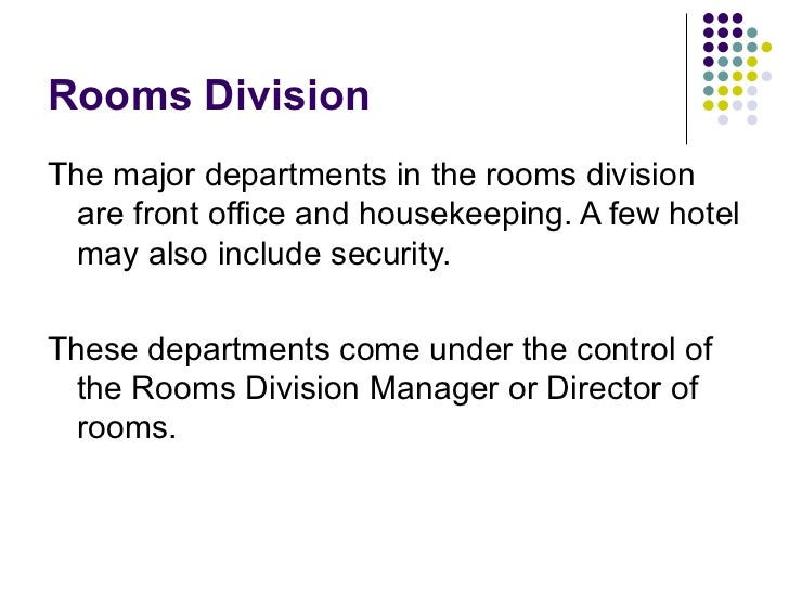 Room divisions Operations Management