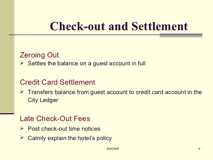 checkout and settlement Lawsuits, awards, and settlements audit techniques guide note: this document is not an official pronouncement of the law or the position of the service and.