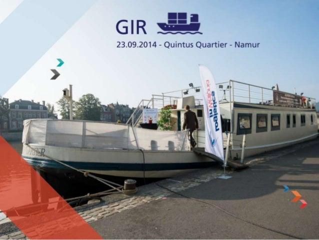 Objet de la séance  L'Innovation en Transport et Logistique à travers le projet GIR, porté par la  société Design Naval et...