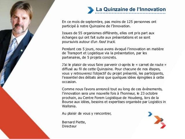La Quinzaine de l'Innovation  En ce mois de septembre, pas moins de 125 personnes ont  participé à notre Quinzaine de l'In...