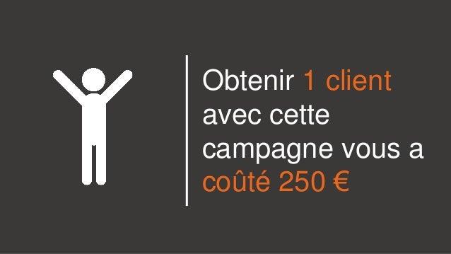 Obtenir 1 client avec cette campagne vous a coûté 250 €
