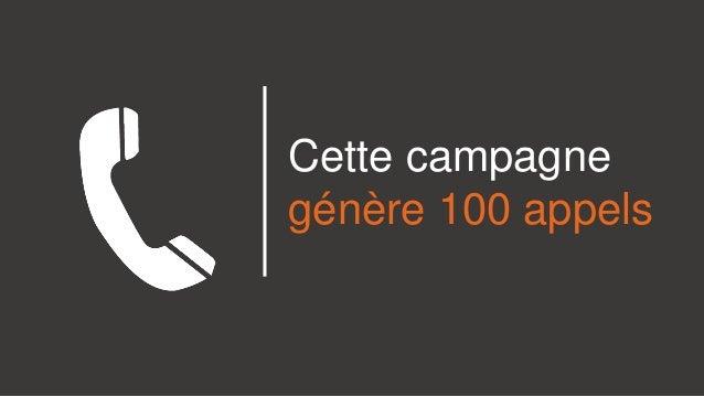 Cette campagne génère 100 appels