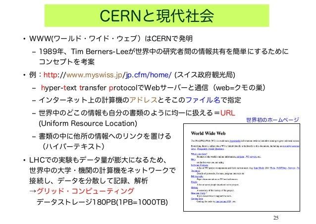 CERNと現代社会\u2022 WWW(ワールド・