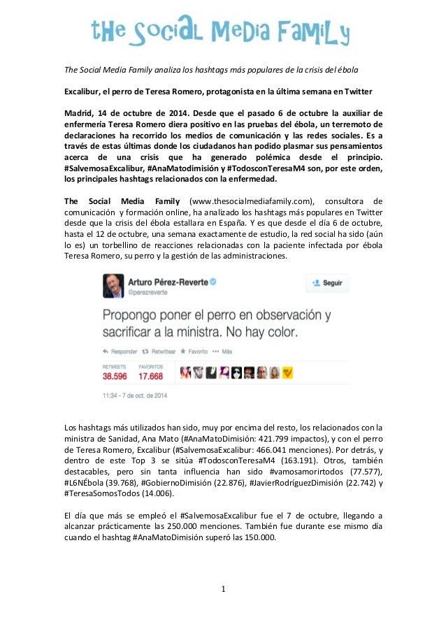 The  Social  Media  Family  analiza  los  hashtags  más  populares  de  la  crisis  del  ébola  Excalibur,  el  perro  de ...