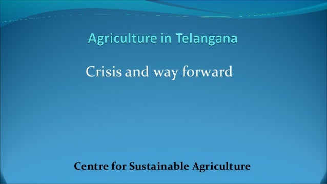 Crisis and way forward  Centre for Sustainable Agriculture