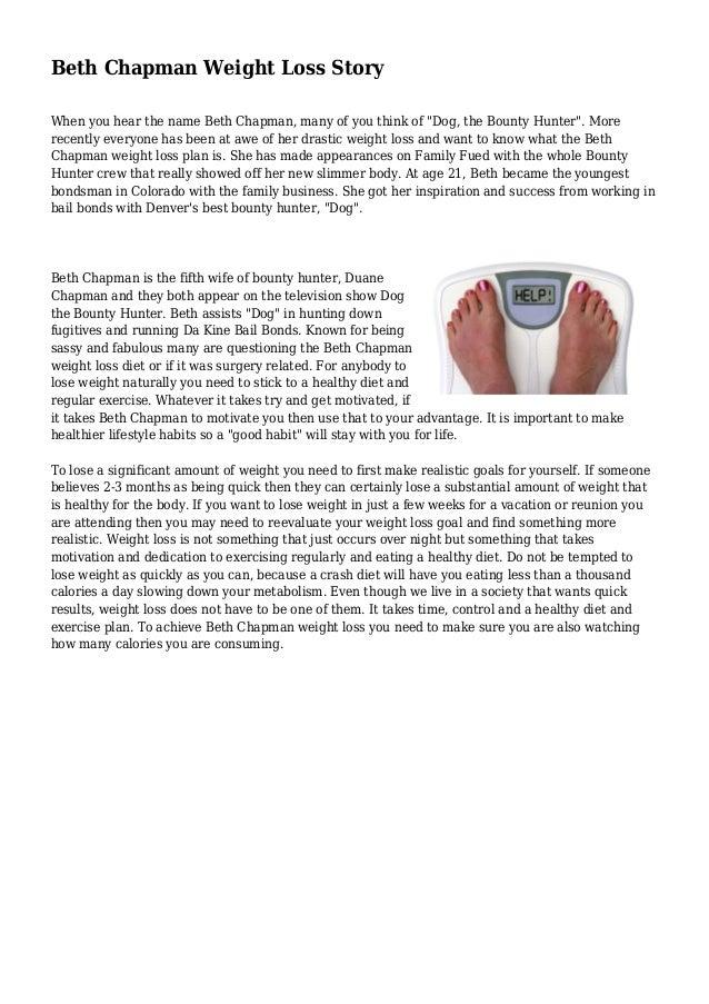 Beth Chapman Weight Loss Story
