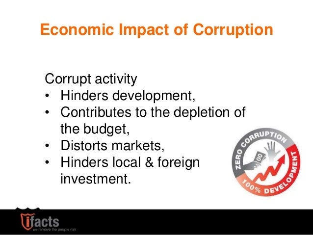The impact of corruption on economic development economics essay