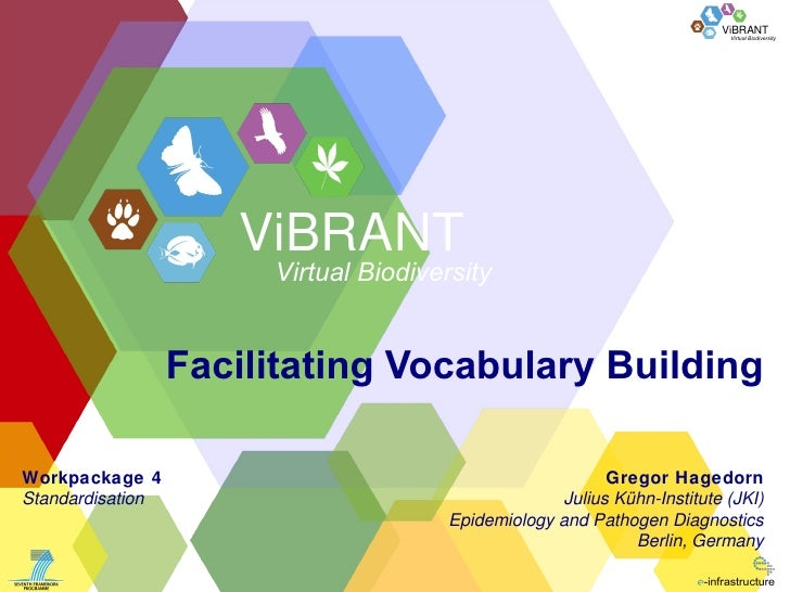 Facilitating Vocabulary Building Workpackage 4 Standardisation Gregor Hagedorn Julius Kühn-Institute (JKI) Epidemiology an...
