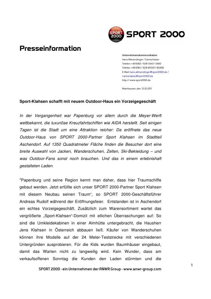 Presseinformation                                                        Unternehmenskommunikation                        ...