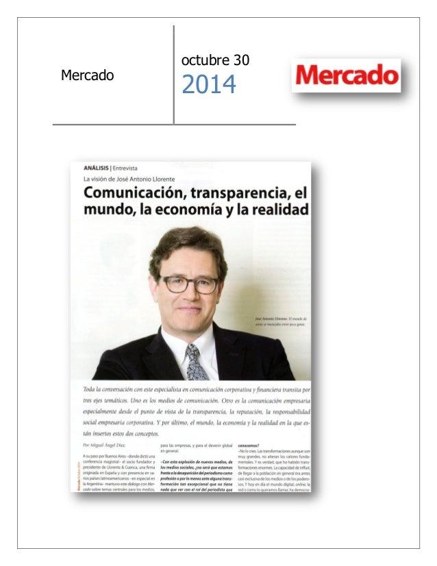 Mercado  octubre 30  2014