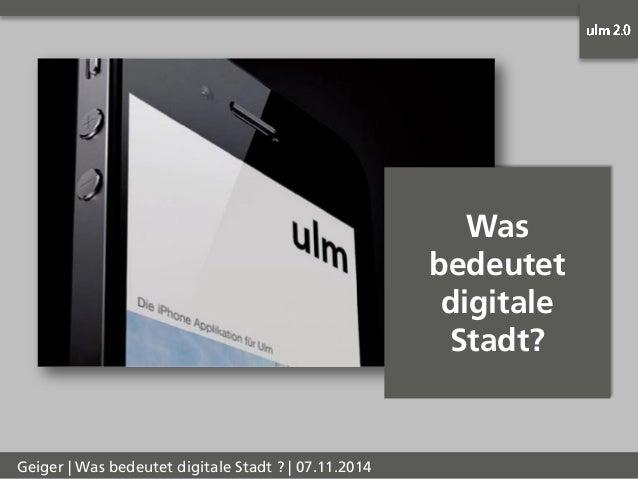 Digitale Stadt - Christian Geiger