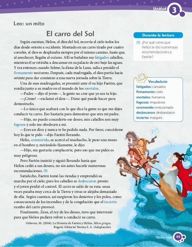 Lenguaje y Comunicación 4º Básico, Texto del Estudiante