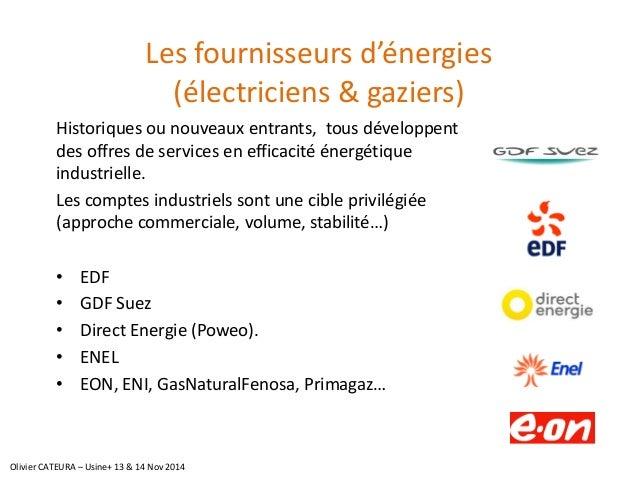 Les fournisseurs d'énergies (électriciens & gaziers)  Historiques ou nouveaux entrants, tous développent des offres de ser...